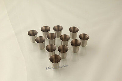 Communion Cups Set of 40 Holy Stainless Steel Matte polish - Religious EHD