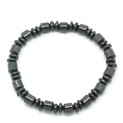 Fancy Magnetic Gunmetal Hematite Healing Stretch Bracelet Arthritis Headaches