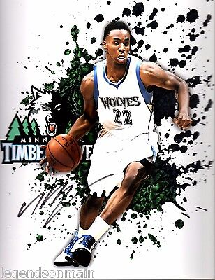 Andrew Wiggins Minnesota Timberwolves Signed Autographed 8x10 Photo LOM COA AW8