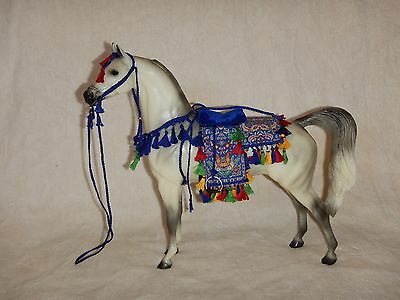 "Peter Stone Arabian Horse ""Peace"" 2002 model, with colorful costume"