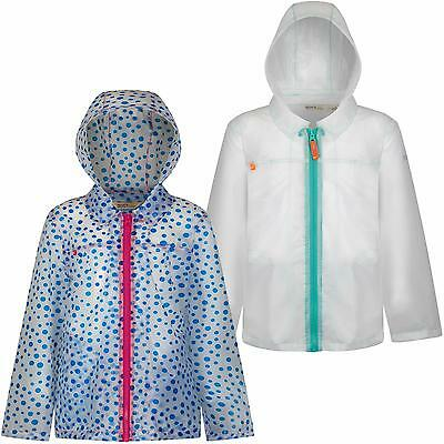 Regatta Girls Epping Jacket Waterproof Coat Transparent