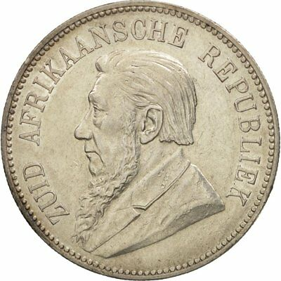 [#470233] South Africa, 5 Shillings, 1892, Silver, KM:8.1