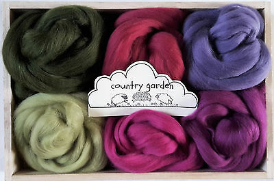 Merino Wool roving/ tops / Felting, needle felting, landscape / colours 60g