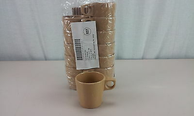 Halsey Melamine Tan 10 oz Cup Mug Set of 12