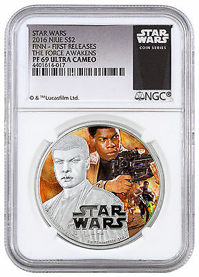 2016 Niue $2 1 oz. Silver Star Wars Force Awakens - Finn NGC PF69 UC FR SKU43134