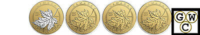 2017Pure Gold Maple Leaf Fractional Set Of 4-A Celebration Of Canada(17785)-Ooak