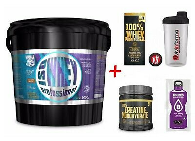 100% whey professional 5kg proteine siero MUSCLE CENTER+ bcaa + creatina scitec