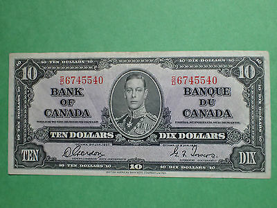 1937,   10 Dollars,   Gordon-Towers,   S/D 6745540,    BC-24b,   Canada