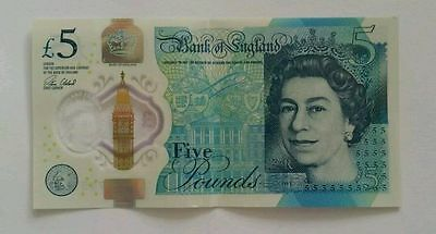 New type  English 5 pound note Winston Churchhill