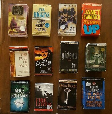 Audiobooks on Cassette  12 Unabridged Bulk lot