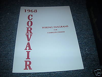 1968 Chevrolet Corvair Wiring Diagram Manual Schematic
