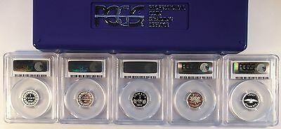2012 Canada Farewell Penny 5 COIN SILVER PROOF SET- PCGS PR69DCAM fresh holders