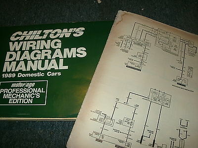 1989 Pontiac 6000 Oversized Wiring Diagrams Schematics Manual Sheets Set