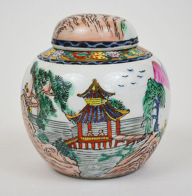 Antique Chinese Porcelain Hand Painted Ginger Jar