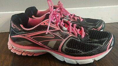 BROOKS WOMEN'S RAVENNA 5 RUNNING SHOES SIZE 9.5 black pink 1101571