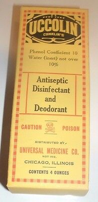 1900's Vintage Paper Box for Conklins Uccolin Antiseptic Disinfectant
