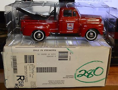New In Box Mobil 50Th Anniversary Die Ford 1949 F1 Cast Tow Truck Bank 1999