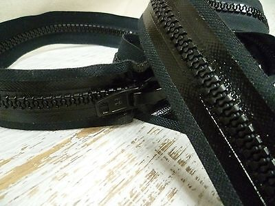 S Lock Waterproof Zipper  - Chunky No.10 - Open Ended - 122cm - Black or White