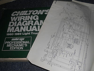 1981 ford bronco oversized wiring diagrams manual sheets set