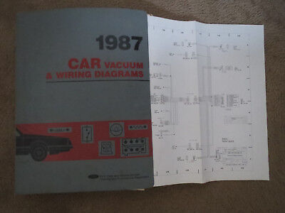 1987 ford thunderbird mercury cougar wiring diagrams schematics sheets set