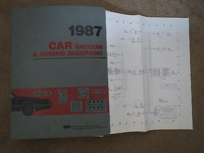 1987 lincoln town car wiring diagrams schematics sheets set original