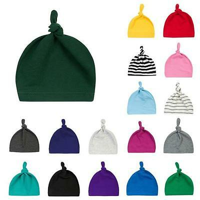 Newborn Baby Soft Warm Hat Toddler Kids Cotton Beanie Boys Girls Bow Knot Cap JJ