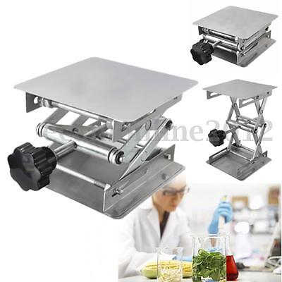 """4"""" x 4"""" 100mm Stainless Steel Lab Stand Lifting Platform Lifter Laboratory Tool"""