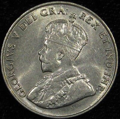 1922 5C Canada Old 5 Cents Nickel Coin