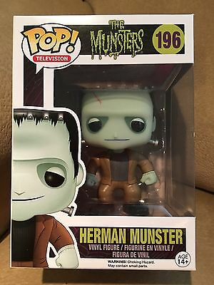 Funko Pop! Television The Munsters Herman Munster #196 New In Box, Mint!