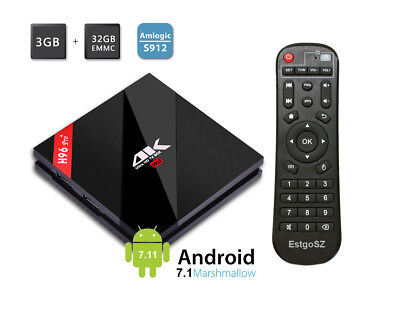 TV BOX H96 PRO Plus Amlogic S912 Octa core Android 6.0 Bluetooth 4.1 set top box