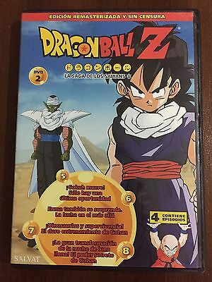 Dragon Ball Z Dvd 2 - Caps 5 A 8 - 100 Min - Ed Remasterizada Sin Censura Toei
