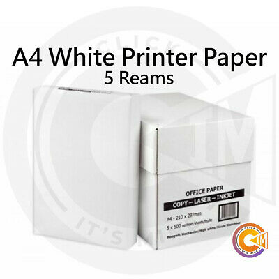 A4 Printer Paper 80gsm White Quality Inkjet Sheet Ream Box Office School Home