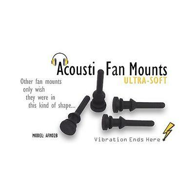 PQ232 Acousti AFM02B Ultra-Soft Flush-Fit Fan Mounts qty 100