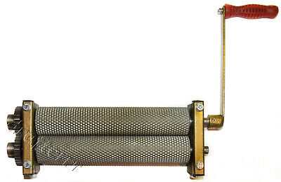 Beeswax foundation mill w engraved rollers for production of honeycombs/ bee wax