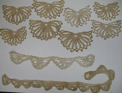 VIntage Antique Lot Crochet Lace Tatting Edging Trims