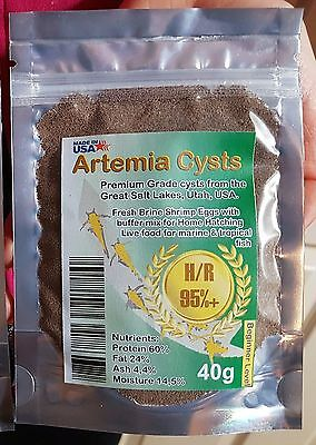 Artemia eggs cysts / Brine shrimp eggs / BEGINNER LEVEL / Fish food/ 95% AWSDEAL