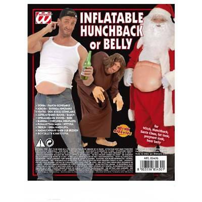 Inflatable Hunchback or Belly,Santa,Pregnant, Beer Belly,Witch Back Fancy Dress