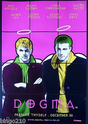 Dogma Original 1 Sheet Poster Kevin Smith Ben Affleck Gilbert And George 1999