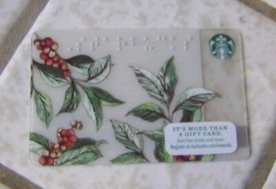 Starbucks Coffee Berry Themed Braille Gift Card ~ Limited Edition 2016