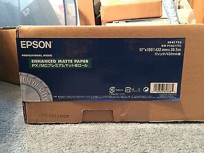 "Epson Enhanced Matte Photo Paper, 17"" x 100', S041725"