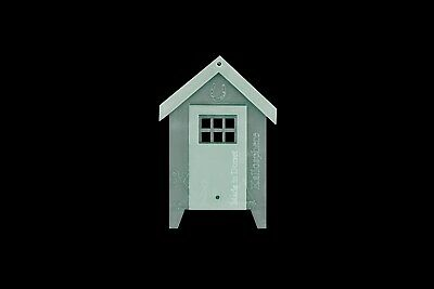 A Mini Acrylic Beach Hut Sewing/craft Template With Separate Roof And Door