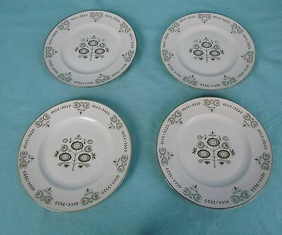 """Franciscan Heritage 4 Bread Plates 6 3/8"""" Mid Century Modern Dishes"""