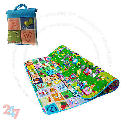 New 2 Side Kids Crawling Educational Letters Game Baby Play Mat Soft Foam Carpet