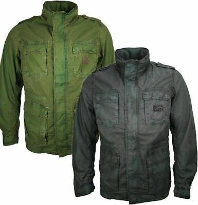 "MENS DIESEL FIELD JACKET - ""Jostral"" 100% Hooded Cotton Coat"