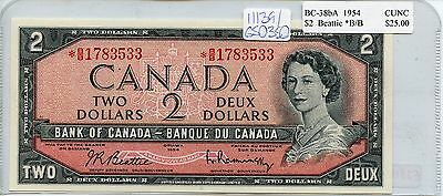Uncirculated 1954 Bank of Canada $2 Note SA191