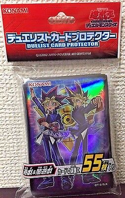 Yugioh Official Card Sleeve Protector : Mutou yugi & Yami yugi / 55pcs japan F/S