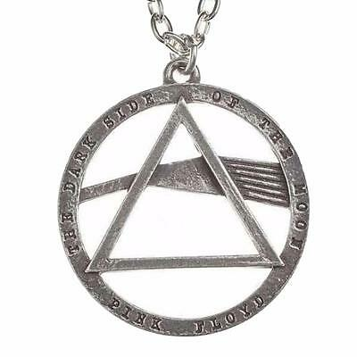 Alchemy Rocks Pink Floyd Dark Side Of The Moon  Pendant Necklace Pewter Official