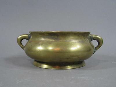 Nice Signed Antique Chinese Bronze Censer Xuande Mark 18THC