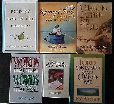 Lot of 6 Non-fiction Christian Insprirational Books