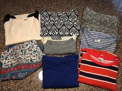 Lot of 8 tops Forever 21 AE H&M aerie Others Ladies Juniors Size L